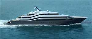 Mega-yacht mewah