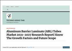 Pasar Tabung Laminasi Aluminium Barrier Global