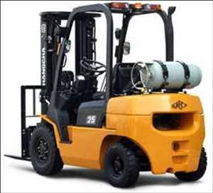 Truk Forklift Bahan Bakar Pasar